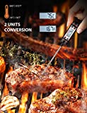 TOPELEK Digital Cooking Thermometer, Ultra Fast 5.9inches Long Probe Stainless Kitchen, Meat, Thermometers With Instant Read, Auto Off, Best For Food, Grill, BBQ, Milk, And Bath Water