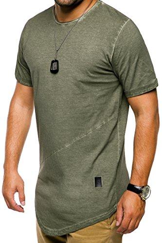MT Styles Oversize T-Shirt Washed C-9022 Khaki