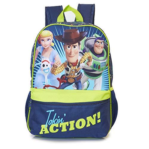 Toy Story 4 Forky Woody Buzz Et La Bergère Sur Un Sac À Dos Enfant Bleu Marine et Vert | Sac...