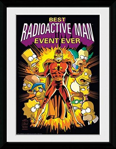 (1art1 79739 Die Simpsons - Radioactive Man Gerahmtes Poster Für Fans Und Sammler 40 x 30 cm)