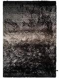 benuta Shaggy Hochflor Teppich Whisper Anthrazit/Grau 120x170 cm | Langflor Teppich für Schlafzimmer und Wohnzimmer