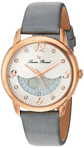 Lucien Piccard Women's Analogue Quartz Watch with Leather Strap LP-40034-RG-02-SGSS