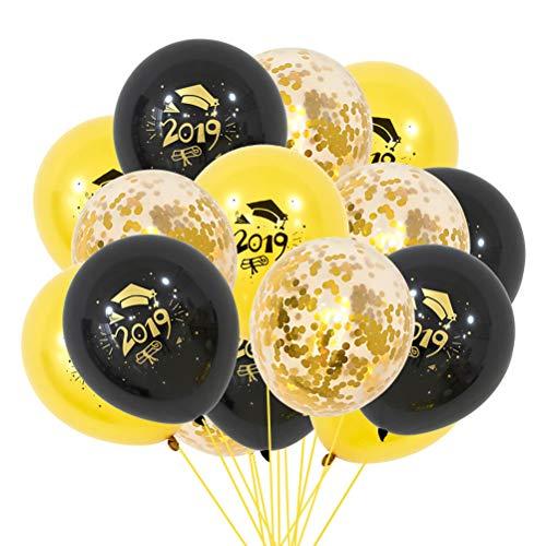 Toyvian 15 Stücke Abschlussballone Latexballon Mit 2019 Promotion Kappe Abschlussfeier Dekoration