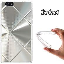 Becool® Fun - Funda Gel Flexible para Elephone M2, Carcasa TPU fabricada con la mejor Silicona, protege y se adapta a la perfección a tu Smartphone y con nuestro exclusivo diseño. Metal brillante