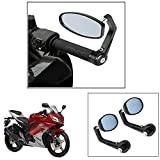 #9: Vheelocity Motorycle Bar End Mirror Rear View Mirror OvalFor Yamaha Yzf R15 Ver 2-0