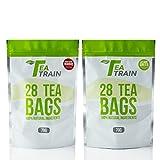 TeaTrain 28 Day 56 Tea Bag Bundle - Weight Loss Slimming Fitness Tea