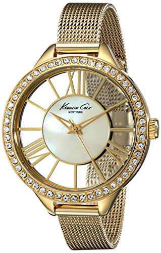 kenneth-cole-damen-armbanduhr-40-mm-necklaces-halskette-steel-bracelet-case-mop-dial-analog-quarz-kc