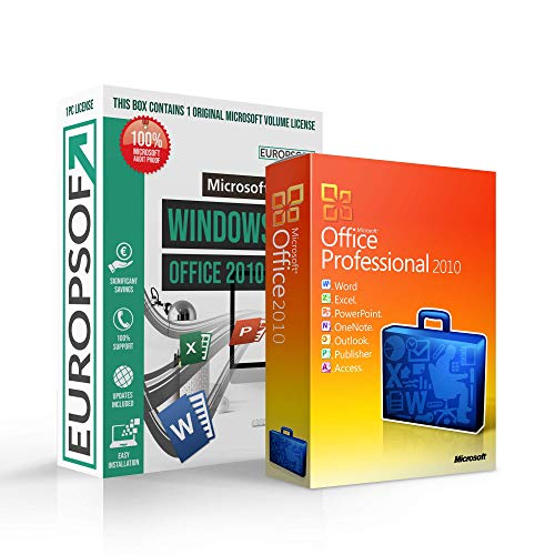 Microsoft® Office 2010 PRO (Professional Plus) DVD mit original Lizenz. Europsoft Box. Papiere & Zertifikate. Alle Sprachen 32 & 64bit