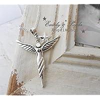 KettenAnhänger Engel Flügel Stern Angel Bettelanhänger