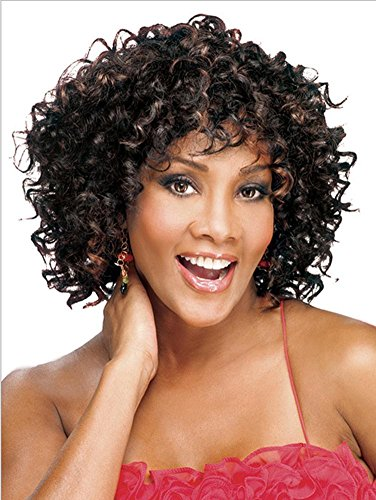 Meylee Perücken Afro-kleine schwarze kurze voll Perücke locken , picture (Afro Für Männer Kurze Perücken)