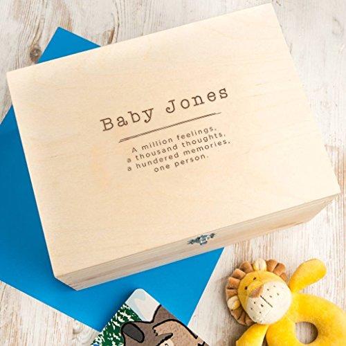 Personalised Baby Shower Gift - Unisex Baby Keepsake / Memory Box