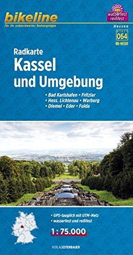 Bikeline Radkarte Kassel und Umgebung 1:75 000