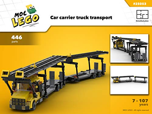 Car carrier transport truck (Instruction Only): MOC LEGO (English Edition)