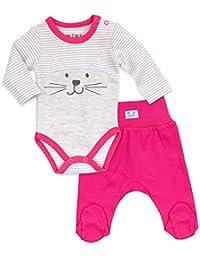aca372bed72d78 Baby Set Body + Hose Mädchen grau pink | Motiv: Katze | Marke: NINI