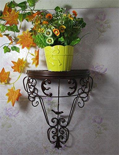 FAFZ Continental Ferro parete Flower Pot Rack, Hanging piante Scaffale,