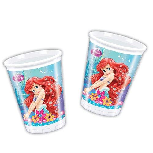 Disney Princess 200ml Ariel Little Mermaid Kunststoff Tassen, 8Stück (Ariel Little Mermaid Party)