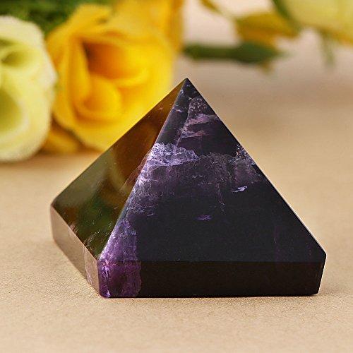 Amethyst Pyramide, lila Kristall Pyramide Figur, ägyptische Pyramiden Figur Statue Modell, Feng Shui Handwerk Pyramiden Geschenk