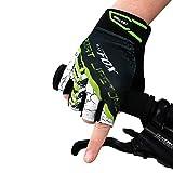 Fahrrad Handschuhe mit Geleinlage Radfahren Handschuhe Half Finger Biking Anti-Rutsch Shock-absorbierende GEL Pad Breathable Cycle Handschuhe