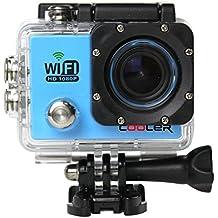 COOLER-WIFI Videocámara de Acción SJ6000 - 12MP, HD, 1080P, Gran Angular, Sumergible hasta 30m, Incluye múltiples accesorios WiFi Edición Deporte Acción Cámara cámara de buzo(azul)