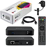 MAG 256w1 Original HB-DIGITAL IPTV SET TOP BOX con WLAN (WiFi) integrato 150Mbps Multimedia Player Internet TV IP Receiver + HB Digital HDMI cavo (HEVC H.256 support)