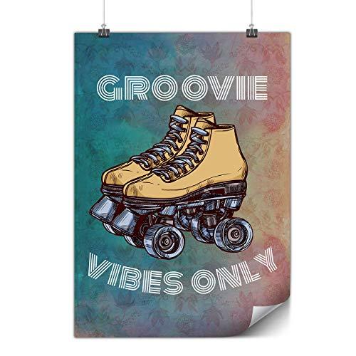 Wellcoda Rille Vibes Nur Plakat Inlineskaten A3 (42cm x 30cm) Mattes schweres Papier, Ideal für die Gestaltung, Einfach zu hängen Kunst