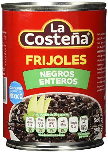 La Costena schwarze Bohnen ganz , 3er Pack (3 x 560 g)