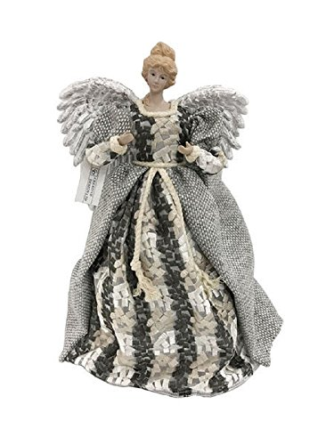 December Diamonds Tweed Angel Christmas Tree Topper Decoration 17 Inch New Tweed Topper
