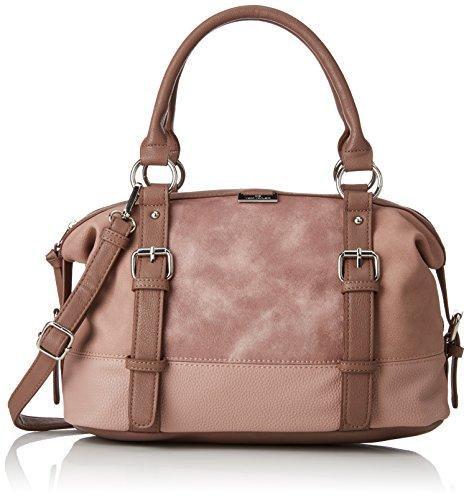 TOM TAILOR Handtasche Damen Juna, Rot (Rose), 14x19x35 cm, TOM TAILOR Bowling Tasche