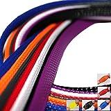 5m Gewebeschlauch Kabelschutz Geflechtschlauch Blau Ø6mm Innendurchmesser bis 200% ausdehnbar