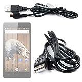DURAGADGET Cable Micro USB De Sincronización De Datos Para Smartphone THL T6C | Doogee Valen...