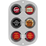 Wilton 2105-953 - Molde para muffins Recipe Right, 6 cavidades
