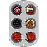 Wilton 2105-953 - Molde para muffins Recipe Right, 6 cavidades..