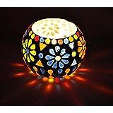 Houzzplus Mosaic Tea Light Holder - Diwali Lights - Candle Holder - Showpiece Antique Gift - 3 Inch