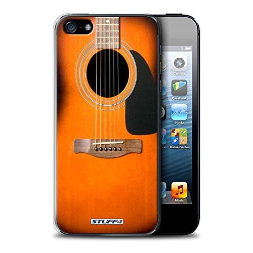Coque de Stuff4 / Coque pour Apple iPhone 4/4S / Rouge Electrique Design / Guitare Collection Sunburst Acoustique