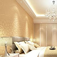 KYDJ ® 3D Vlies Tapete Wohnzimmer Tv Hintergrund Wand Schlafzimmer Tapete  Apricot Gelb 0.53M *