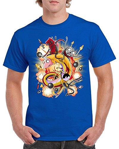 Camisetas La Colmena Herren T-Shirt blau blau Königsblau