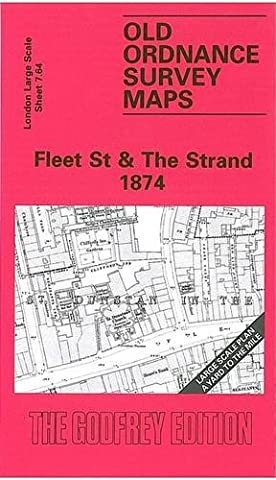 Fleet Street and the Strand 1874: London Large Scale Sheet 07.64 (Old Ordnance Survey Maps of London - Yard to the