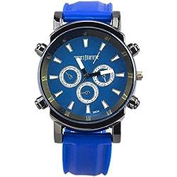 Big Dials Wrist Watch - Weijieer Silicone Band Big Round Face Big Dials Men's Boys Sport Wrist Watch Quartz Watch, Blue