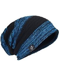 e5896a58553 Men Oversize Beanie Slouch Skull Knit Large Baggy Cap Ski Hat B08