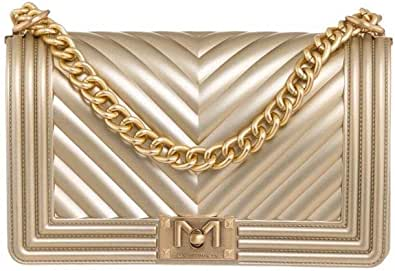 Marc Ellis Borsa flat M tracolla gold