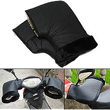 Audew Gant Moto Hiver Gant de Protection Installé sur Poignée, Imperméable et Thermique Convient à Moto, Scooter