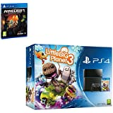 Sony Playstation 4 Console PS4 500GB Little Big Planet 3 + Minecraft Bundle Game Great Game from PS4 for the under 12 [Importación Inglesa]
