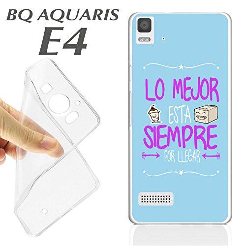Schutzhülle + Displayschutz aus optischem Glas für BQ Aquaris E4