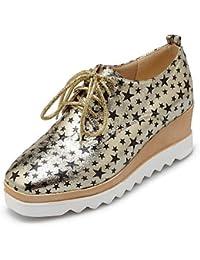 Zq Étreinte Chaussures Femme - Talon Plat - Bout Rond - Plat - Décontracté - Semicuero - Noir / Rose / Violet / Rouge / Blanc / Beige, Beige-us8 / Eu39 / Uk6 / Cn39, Beige-us8 / Eu39 / Uk6 / Cn39