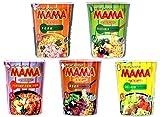 Probierset Mama Cup Asia Nudeln - Thai Nudelsuppe Fertiggericht - 5er Pack (5 x 70g)