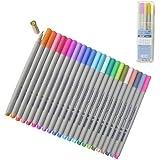 Yosoo 24pcs 0.3MM colores multi colorido de la tinta del gel de la pluma de la pluma para su dibujo coloreado Fineliner bolígrafos de punta fina Marcadores Pen