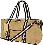 Reisetasche Raziola Meadow - Khaki Schultertasche aus Segeltuch - Canvas Weekender für Herren