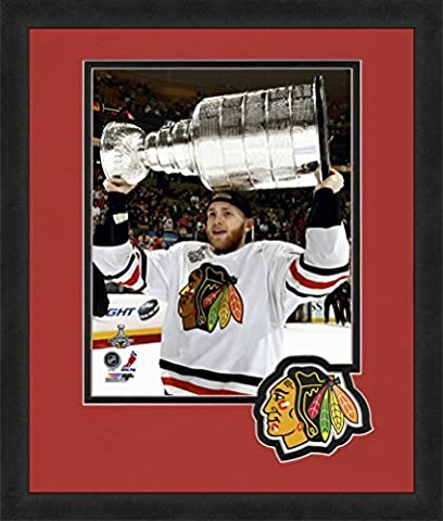NHL Chicago Blackhawks Patrick Kane 8x10-Inch Full Color Logo Mat Photograph, Red by Photo File