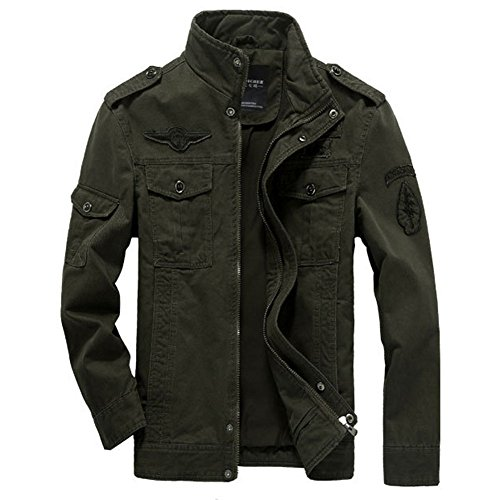 Men's Military Style Air Force jacket Military Coat Tops