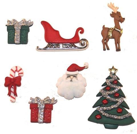 Christmas Eve Novelty Craft Buttons & Embellishments by Dress It Up by Jesse James